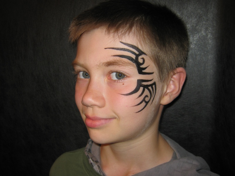 Tribal (Tyson style) - Face Painting by Jenn