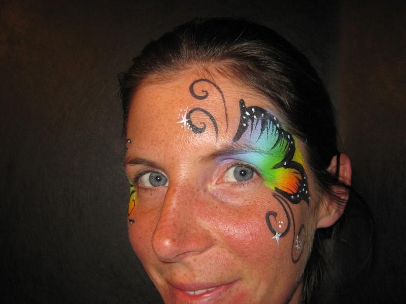 Neon Rainbow Eye  Butterfly